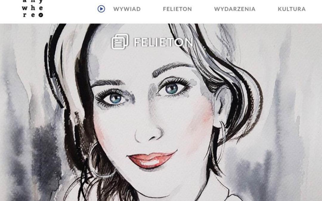 Felietony dla Anywhere.pl